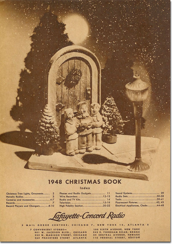 picture of the 1948 Lafayette holiday catalog