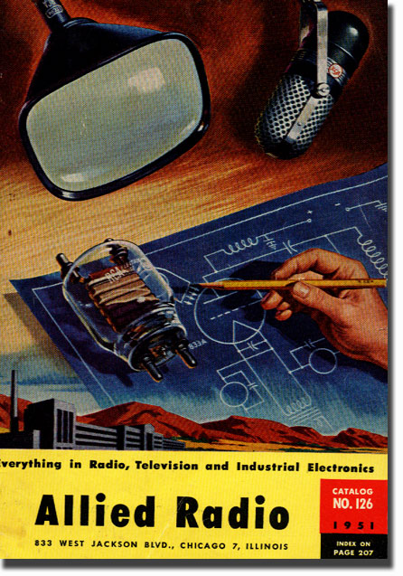 picture of 1951 Allied Radio catalog cover