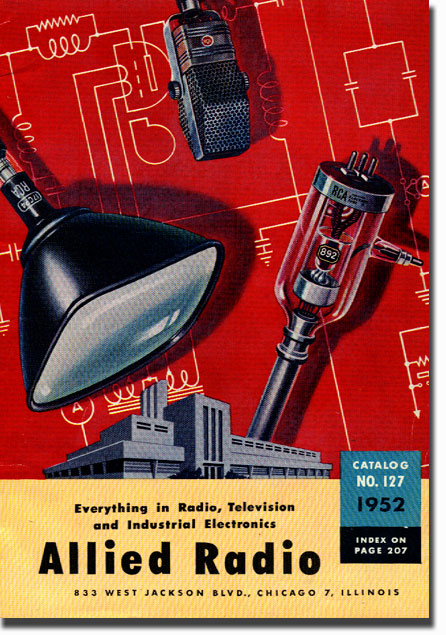 picture of 1952 Allied Radio catalog cover