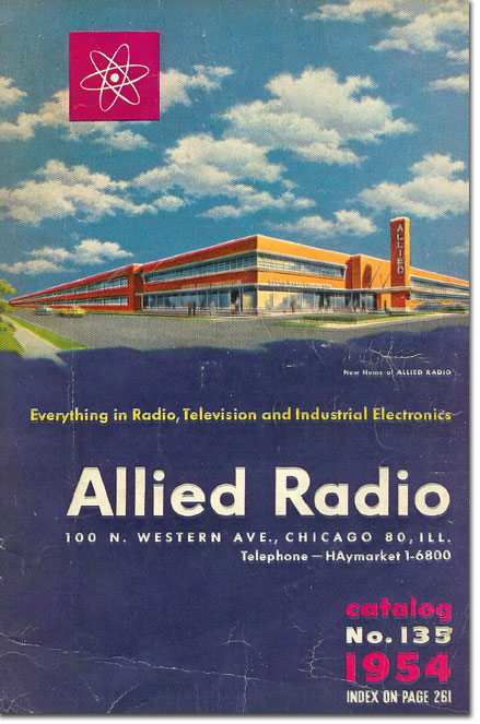 picture of 1954 Allied Radio catalog cover