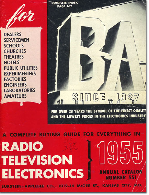 picture of the cover of the 1955 Burstein Applebee catalog