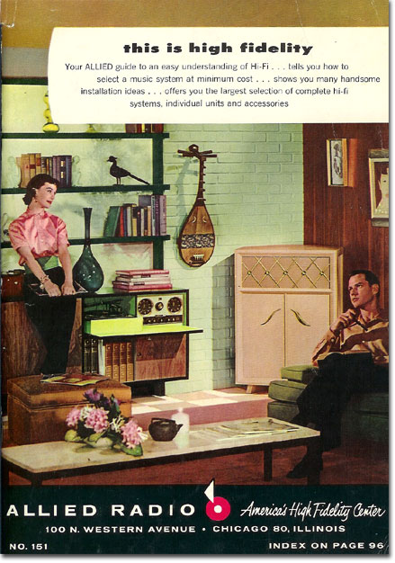 picture of 1956 Allied Radio catalog