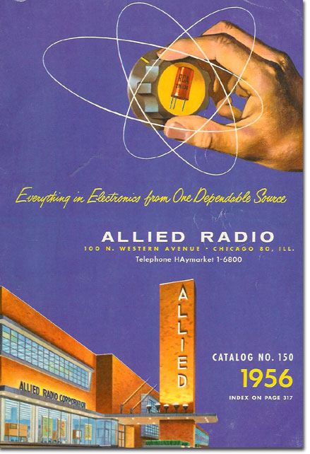 picture of the 1956 Allied Radio catalog