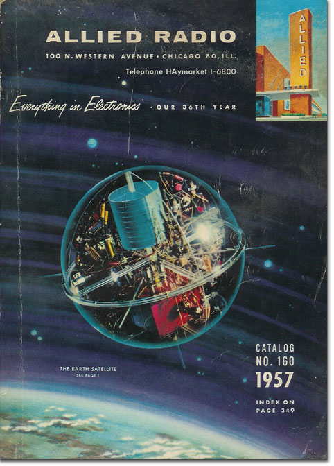 picture of cover of 1957 Allied Radio catalog