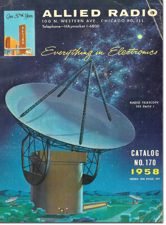 picture of cover of 1958 Allied Radio catalog