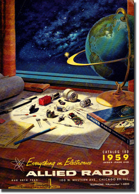 picture of cover of 1959 Allied Radio catalog