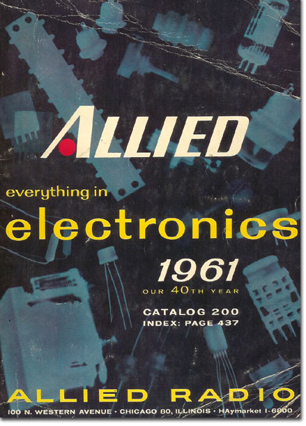 picture of 1961 Allied Radio catalog cover