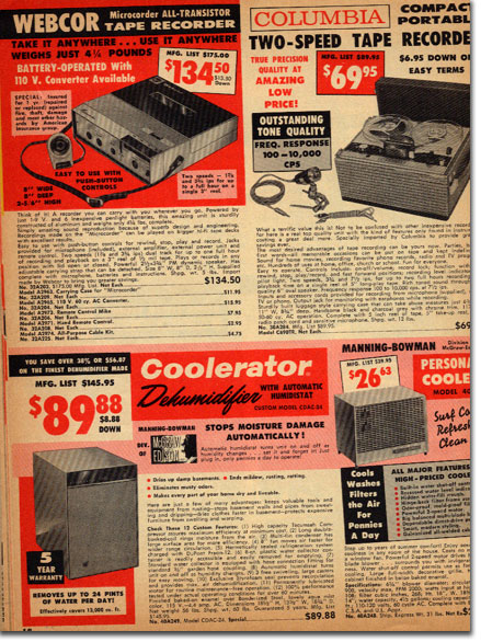 picture of recorders in the 1961 Burstein Applebee catalog