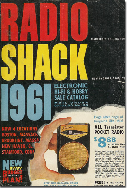 picture of 1961 Radio Shack catalog