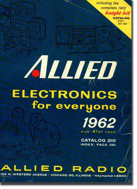 picture of cover of 1962 Allied Radio catalog