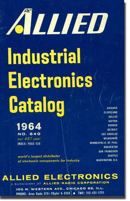 picture of 1964 Allied Radio Industrial catalog