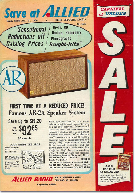 picture of 1964 Spring Allied Radio catalog