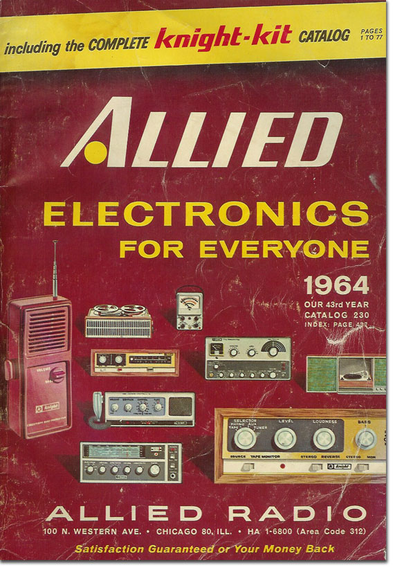 picture of 1964 Allied Radio catalog