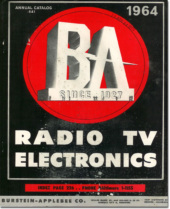 picture of the cover of the 1964 Burstein Applebee Radio catalog
