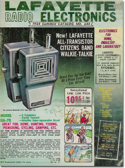 picture of 1964 Lafayette Radio Summer Sale catalog