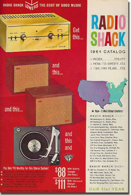 picture of 1964 Radio Shack catalog