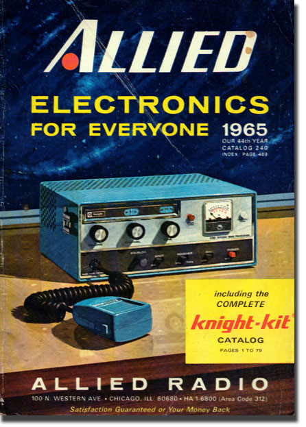 picture of cover of 1965 Allied Radio catalog