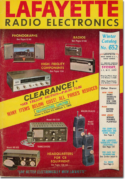 picture of the 1965 Lafayette Sale catalog