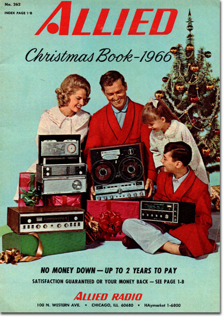 picture of 1966 Allied Radio Christmas Sale catalog
