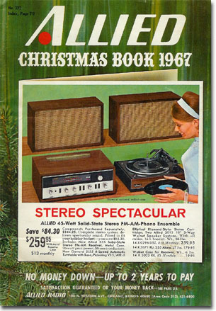picture of 1967 Allied Radio Christmas catalog