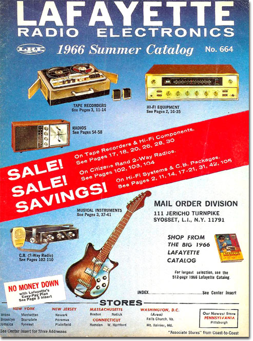 picture of 1966 Lafayette Summer Sale catalog