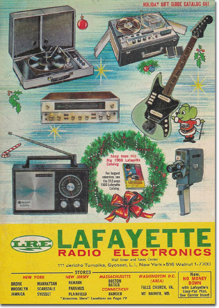 picture of 1966 Lafayette Radio holiday catalog