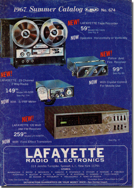 picture of cover of 1967 Lafayette Summer catalog