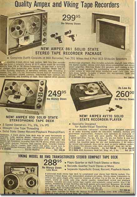 picture of tape recorders in the 1967 Annual Lafayette Radio catalog