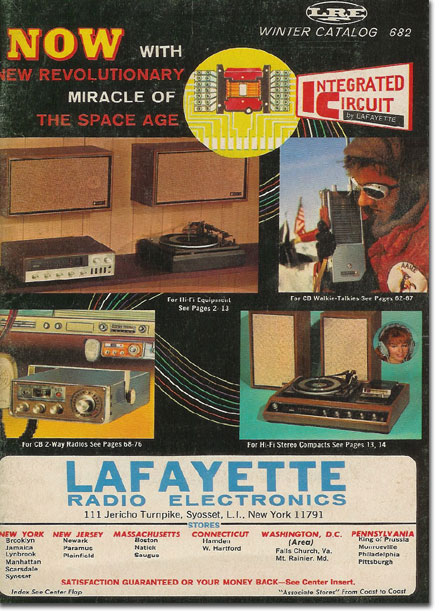 picture of cover of 1967 Winter Lafayette Radio catalog