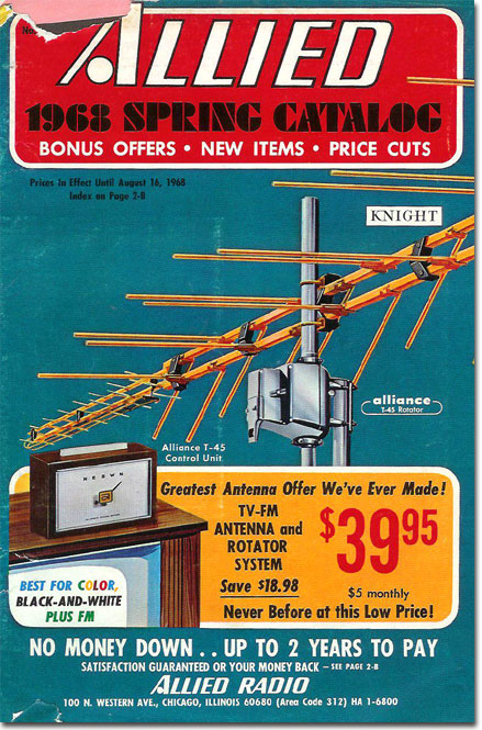 1968 Allied Radio Spring catalog