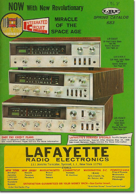 picture of 1968 Spring Lafayette radio catalog