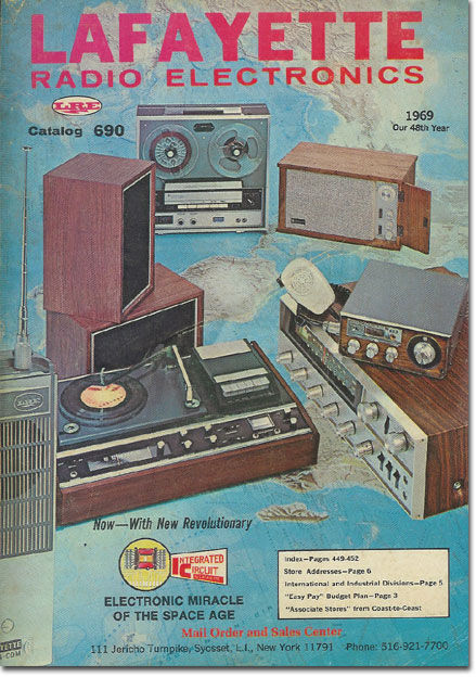 picture of 1969 Lafayette Radio catalog cover