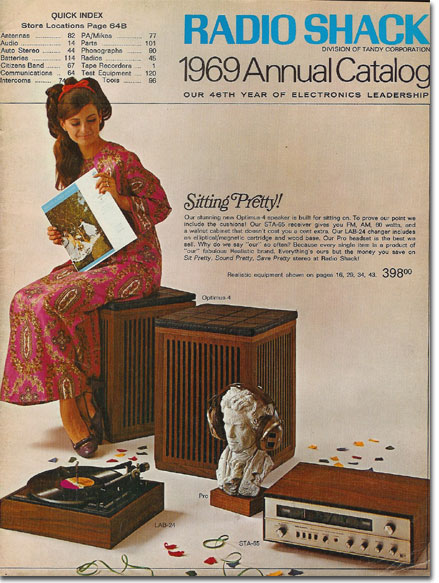 picture of cover of 1969 Radio Shack catalog