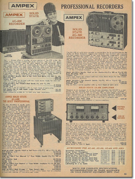 picture of tape recorders for sale in the 1970 Burstein Applebee radio catalog