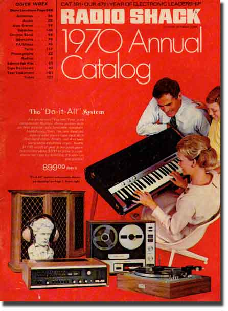 picture of cover of the 1970 Radio Shack catalog