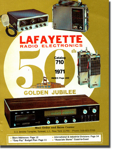 picture of cover of 1971 Lafayette Radio catalog cover