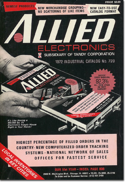 picture of 1972 Allied radio catalog