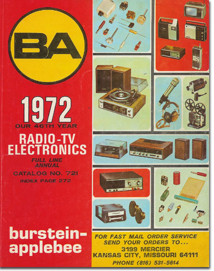 picture of 1972 Burstein Applebee Radio catalog cover