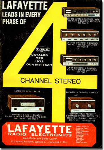 picture of cover of 1972 Lafayette Radio catalog