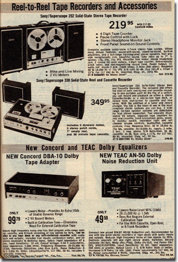 picture of items in 1972 Lafayette Radio catalog