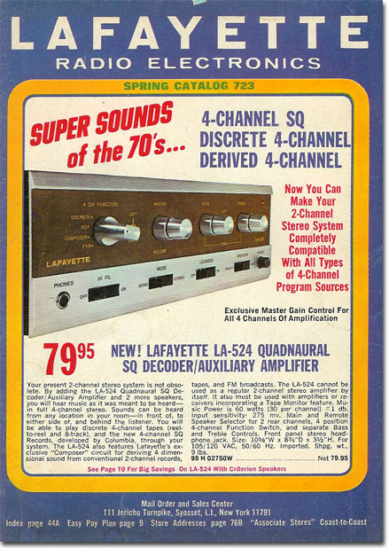 picture of 1972 Spring Lafayette Radio catalog