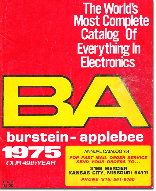 picture of cover of 1975 Burstein Applebee Radio catalog