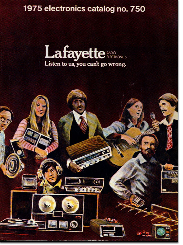 picture of cover of 1975 Lafayette Radio catalog