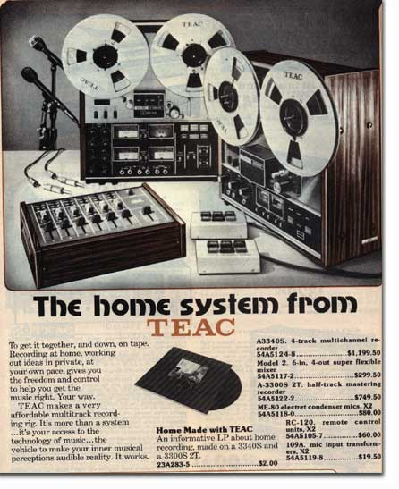 1976 Teac open reel tape recorder  ads in the Phantom Productions, Inc.'s Reel2ReelTexas.com