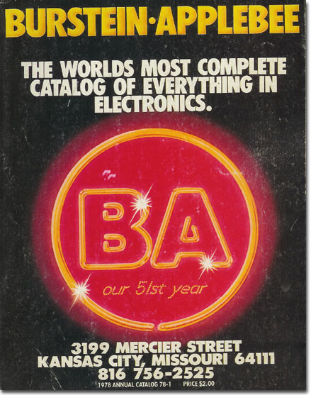 picture of the 1978 Burstein Applebee radio catalog cover
