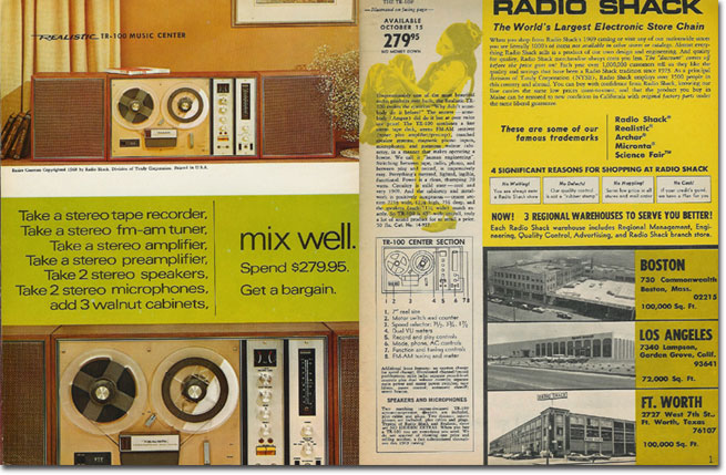 picture of 1969 Radio Shack catalog