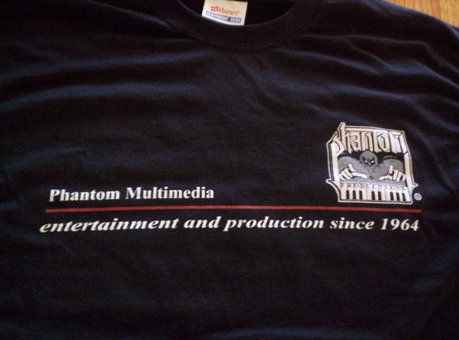Phantom Productions T-Shirt front