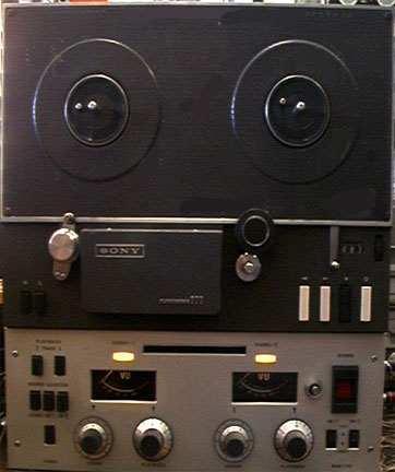 Sony 777 being repaired  in Reel2ReelTexas.com's vintage recording collection