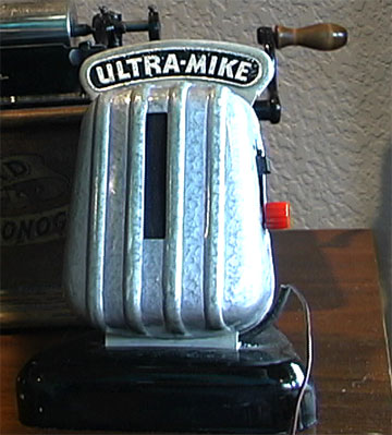 1947 Ultra-Mike wireless microphone in Reel2ReelTexas.com's vintage microphone and recording equipment collection