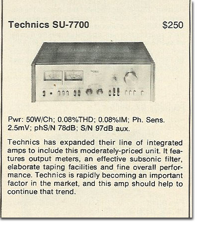 picture of 1978 Technics SU-7700